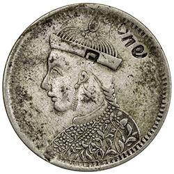 TIBET: AR rupee (10.57g), Kangding mint, ND (1919). PCGS VF35
