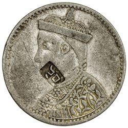 TIBET: AR rupee (10.99g), Kangding mint, ND (1919). PCGS VF