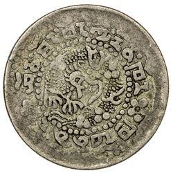 TIBET: Xuan Tong, 1909-1911, AR 2 sho (6.15g), ND (1910). PCGS F12