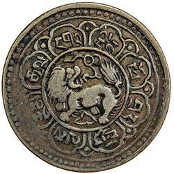 TIBET: AE 5 skar (6.35g), year 15-43 (1909). PCGS EF40