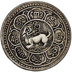 TIBET: AR srang (18.86g), year 15-43 (1909). PCGS EF45