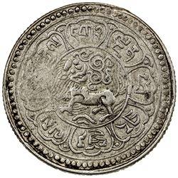 TIBET: AR srang (17.84g), year 15-43 (1918), YZM-398, Y-A18.1, PCGS AU53