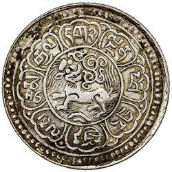 TIBET: AR srang (18.25g), year 15-53 (1919). PCGS EF45
