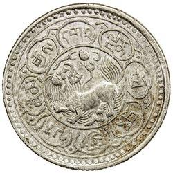 TIBET: AR 5 sho (10.44g), Dode mint, year 15-47 (1913). PCGS AU58