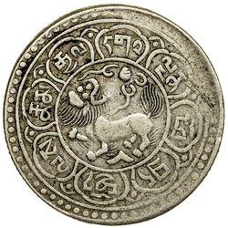 TIBET: AR 5 sho (9.51g), Dode mint, year 15-48 (1914). PCGS VF35