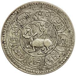 TIBET: AR 5 sho (10.44g), Dode mint, year 15-49 (1915). PCGS AU50