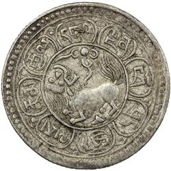 TIBET: AR 5 sho, Dode mint, BE15-50 (1916). EF