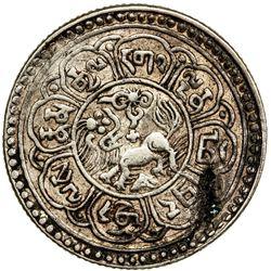 TIBET: AR 5 sho (8.69g), Mekyi mint, year 15-49 (1915). PCGS EF