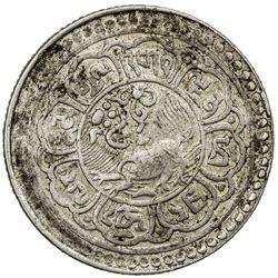 TIBET: AR 5 sho (8.81g), Mekyi mint, year 15-50 (1916). PCGS AU53