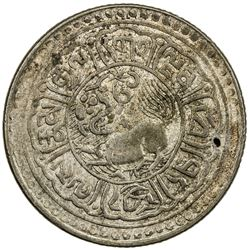 TIBET: AR 5 sho (8.65g), Mekyi mint, year 15-52 (1918). PCGS AU50
