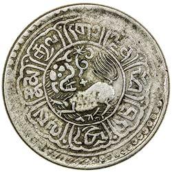 TIBET: AR 5 sho (8.55g), Mekyi mint, year 15-56 (1922). PCGS EF40