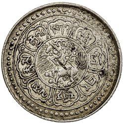 TIBET: AR 5 sho (8.85g), Dode mint, year 15-52 (1918). PCGS AU55