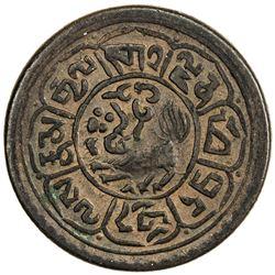 TIBET: AE sho (5.18g), Mekyi mint, year 15-55 (1921). PCGS AU55