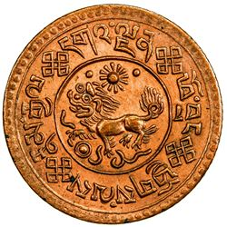 TIBET: AE sho (4.92g), Trabshi mint, year 16-7 (1933). PCGS UNC