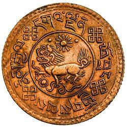 TIBET: AE sho (4.94g), Trabshi mint, year 16-9 (1935). PCGS UNC