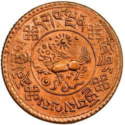 TIBET: AE sho (4.61g), Trabshi mint, year 16-10 (1936). PCGS MS64