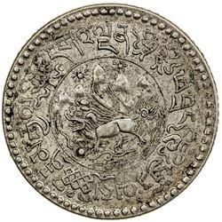 TIBET: AR 1 1/2 srang (5.77g), Trabshi mint, year 16-10 (1936). PCGS AU58