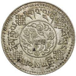 TIBET: AR 3 srang (11.63g), Trabshi mint, year 16-8 (1934), PCGS MS62