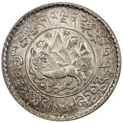 TIBET: AR 3 srang (12.12g), Trabshi mint, year 16-10 (1936). PCGS MS62