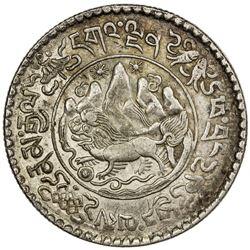 TIBET: AR 3 srang (11.85g), Trabshi mint, year 16-11 (1937). PCGS AU58