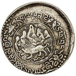 TIBET: AR 3 srang (11.28g), Trabshi mint, year 16-11 (1937). PCGS EF40