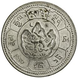 TIBET: AR 10 srang (16.28g), Trabshi mint, year 16-24 (1950). PCGS AU58
