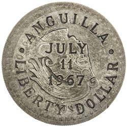 ANGUILLA: AR liberty dollar, 11 July 1967