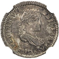 BOLIVIA: Ferdinand VII, 1808-1825, AR 1/2 real, 1825-PTS. NGC MS65