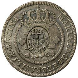 BRAZIL: PIRATINI: AE 40 reis (28.87g), 1835. EF