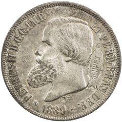BRAZIL: AR 2000 reis, 1889. AU