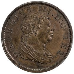BRITISH GUIANA: ESSEQUIBO AND DEMERARY: George III, 1760-1820, AE stiver, 1813. PCGS MS63