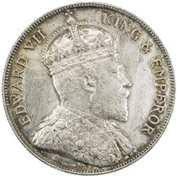 BRITISH HONDURAS: Edward VII, 1901-1910, AR 50 cents, 1906, KM-13, hairlined, AU