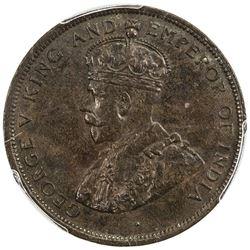 BRITISH HONDURAS: George V, 1910-1936, AE cent, 1912-H. PCGS AU53