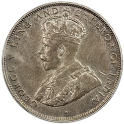 BRITISH HONDURAS: George V, 1910-1936, AR 50 cents, 1919. PCGS AU53