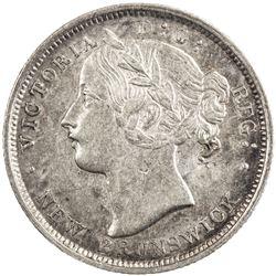 NEW BRUNSWICK: Victoria, 1837-1901, AR 20 cents, 1864. ICCS EF40
