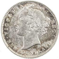NEWFOUNDLAND: Victoria, 1837-1901, AR 10 cents, 1896. ICCS AU50