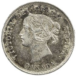 CANADA: Victoria, 1837-1901, AR 5 cents, 1892. ICCS AU58