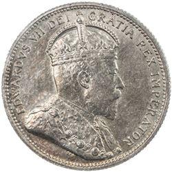CANADA: Edward VII, 1901-1910, AR 25 cents, 1902-H. ICCS MS64