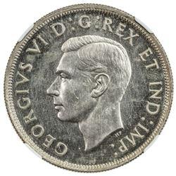 CANADA: George VI, 1937-1952, AR dollar, 1939, KM-38, NGC graded Specimen 62