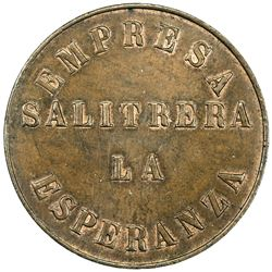 CHILE: AE 100 centavos, ND (1870). AU