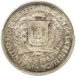 DOMINICAN REPUBLIC: Republic, AR 1/2 peso, 1963. PCGS SP