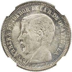 GUATEMALA: Republic, AR 2 reales, 1867. NGC MS65