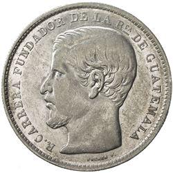 GUATEMALA: Republic, AR peso, 1869. AU