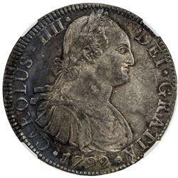 MEXICO: Carlos IV, 1788-1808, AR 8 reales, 1792-Mo. NGC AU