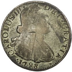MEXICO: Carlos IV, 1788-1808, BI 8 reales, 1798. F