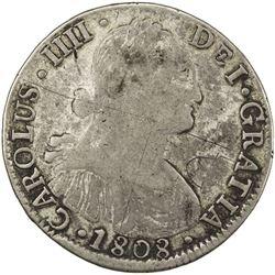 MEXICO: Carlos IV, 1788-1808, BI 8 reales, 1808. F-VF