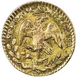 MEXICO: Segunda Republica, 1846-1863, AV 1/2 escudo, 1863/57-Mo. EF-AU