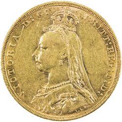 AUSTRALIA: Victoria, 1837-1901, AV sovereign, 1891-M. VF-EF