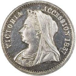 AUSTRALIA: Victoria, 1837-1901, AR medal (5.18g), 1887. PF