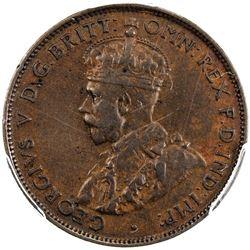 AUSTRALIA: George V, 1910-1936, AE halfpenny, 1923(m). PCGS EF40